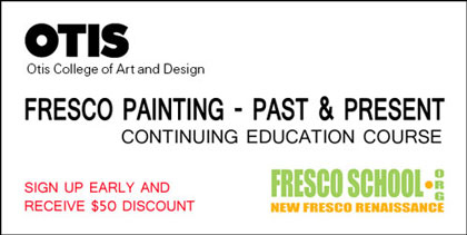 Fresco Painting - Past and Present, fresco program by iLia Anossov at Otis College of Art and Design